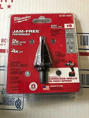 Milwaukee 48-89-9209   Step Drill Bit #9  7/8-1 1/8