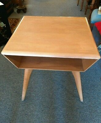 Heywood Wakefield End Table/TV DVD/Record Player Stand Mid Century Eames Era