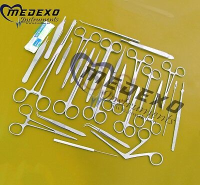 MINOR MICRO SURGERY SURGICAL VETERINARY DENTAL INSTRUMENTS STUDENT 98pcs