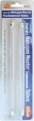 Pack of 2 HALOGEN HEATER REPLACEMENT TUBES BULBS  400W 242mm FROSTED LAMP 31355C