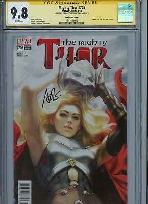 "Mighty Thor #705 Artgerm Variant Cover Cgc 9.8 Signed By Stanley ""artgerm"" Lau"
