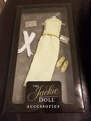 New Franklin Mint The Jackie Doll Accessories White House Reception Yellow Gown