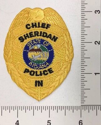 Sheridan Indiana Police Chief Patch