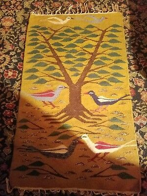 Antique Hand-loomed Birds Tapestry