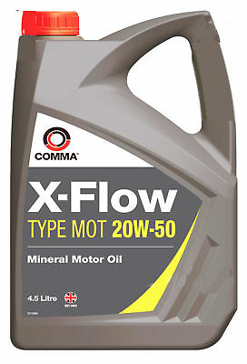 Comma 4.5L X-Flow Type Mot 20W50 Mineral Motor Oil 4.5 Litre