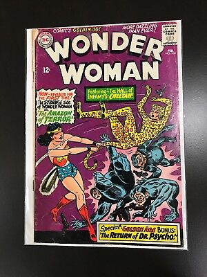 Wonder Woman 160 (DC 1966) *1st Silver Age app. CHEETAH & Dr. PSYCHO** KEY Book!