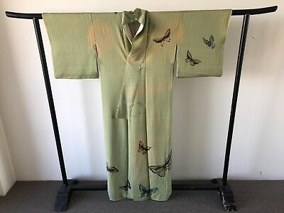 Silk Kimono Butterflies Vintage Costume Japanese One of a Kind Hand Made