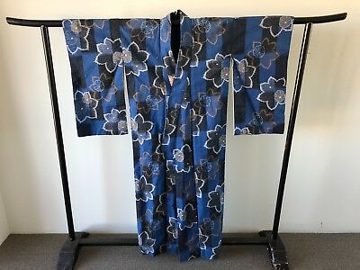 Cotton Kimono Yukata Vintage Costume Japanese One of a Kind Hand Made