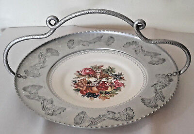 #3 American Limoges Imperial  Bowl Of Fruit 22 K White Gold Victorian T