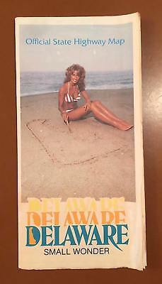 Delaware Official State Road Map 1984