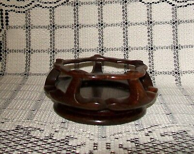 SMALL, VINTAGE DECORATIVE WOODEN BASE FOR VASES or ORNAMENTS (suit 5cm base)