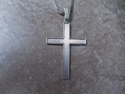 Vintage Solid Silver Cross pendant with Chain