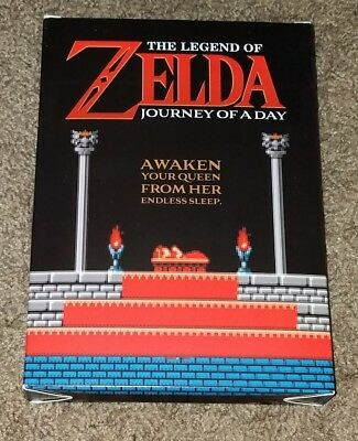 The Legend Of Zelda Journey of a Day RARE GOLD Cart With Posters Nintendo NES