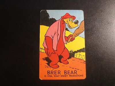 1956 Walt Disney Productions Cartooning Cards Drawing Aid Brer Bear