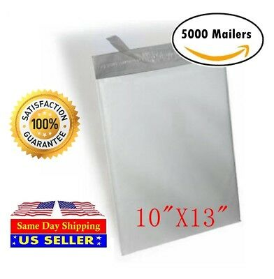 """5000 10""""x13"""" Light Poly Mailer 2 Mil Shipping Mailing Packaging Envelope Bags"""