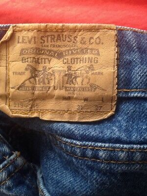 525923b2 Vintage Levis 919-0216 Straight Legs Orange Tab Blue Jeans Measured 31 x 27