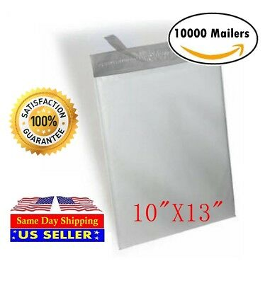 """10000 10""""x13"""" Light Poly Mailer 2 Mil Shipping Mailing Packaging Envelope Bags"""
