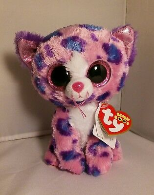 "NEW MWMT Claire/'s Exclusive Ty 17-18/"" JUMBO Beanie Boos REAGAN the Leopard Cat"