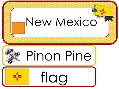 Iowa State Symbols Laminated Word Wall Learning Center Weekly