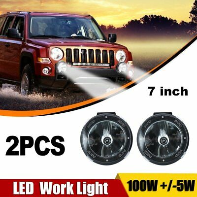 2 x 7INCH 100W HID XENON DRIVING LIGHTS SPOT 4X4 OFF ROAD UTE WORK 12V 707A AU
