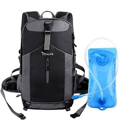 40L Hydration Backpack Outdoor Travel Camping Hiking Day Pack 2L Water Bladder