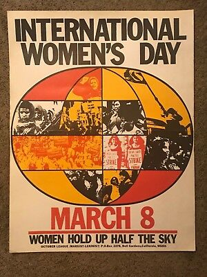 International Woman's Day March 8 US Communist Party Propaganda Poster 1970s