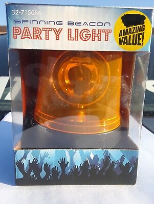 Emergency Orange Flashing Light Warning Beacon LED Mini Rotating Flash Strobe