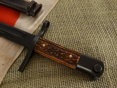 Ww2  Japanese Bayonet Fighting Knife, With Scabbard.