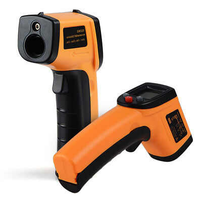 Gm320 Non-Contact Lcd Ir Laser Infrared Digital Temperature Thermometer Gun Fadd