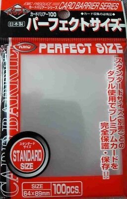 1x KMC CARD  100 PERFECT FIT SIZE SOFT SLEEVES for MTG Pokemon 89x64mm