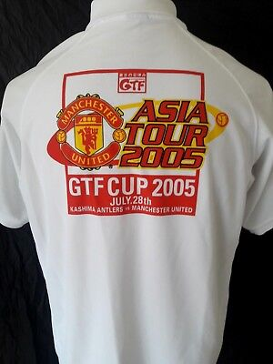 aa6b8b216ef Manchester United Nike Shirt 2005 GTF Cup Asia Tour Kashima Antlers Staff  Polo