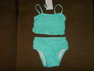 Girls size 18-24 Months Old Navy Light Green 2-PIece Bikini UPF 50 NWT