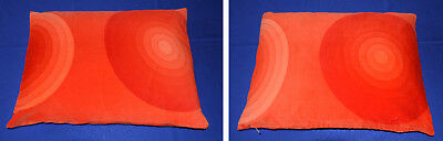 Kissen Pillow Panton MIRA orange Stoff  Velours Kreise Circles Kollektion Dekor