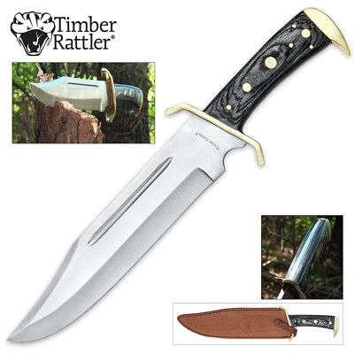 Western Outlaw Bowie Thick 1/4 inch full tang fixed blade Dundee hunting camping