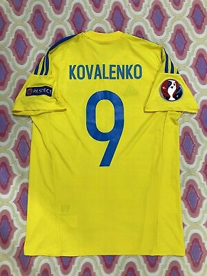 Match Worn T-shirt Ukraine Jersey FC Shakhtar Germane Match Original