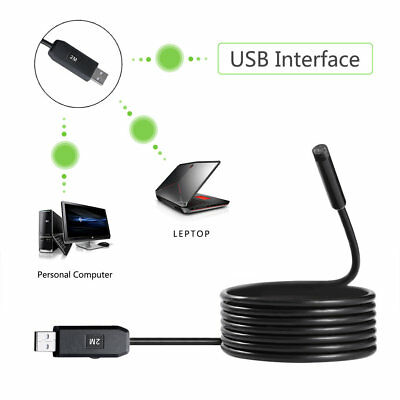 IP67 7mm 2M 6LED Lens Endoscope USB Camera Borescope for Android Smart Phone