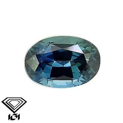IGI certified Greenish Blue Sapphire 0.90ct Natural Loose Gemstones.