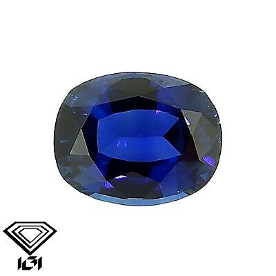 IGI certified untreated Blue Sapphire 0.75ct Natural Loose Gemstones.