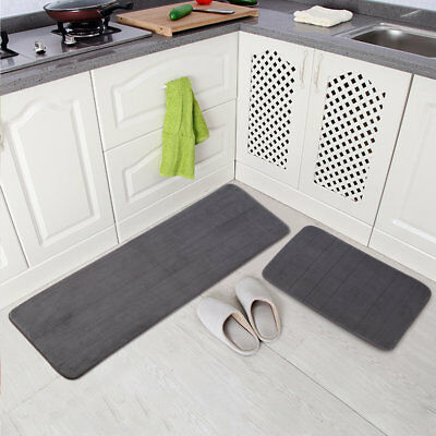 Memory Foam Bath Runner Rug Floor Shower Bath Mat Soft Non-slip Carpet 50x80cm