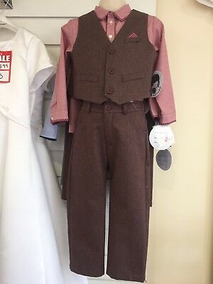 BNWT Sarah Louise Boys 3 Year 3 Piece Suit Outfit