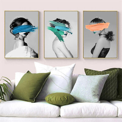 Modern Artistic Woman Canvas Wall Painting Poster Picture Art Home Decor Faddish