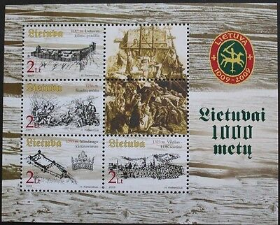 Lithuania Millenary, (1st series) stamp sheet, 2003, Lithuania, SG ref: MS813