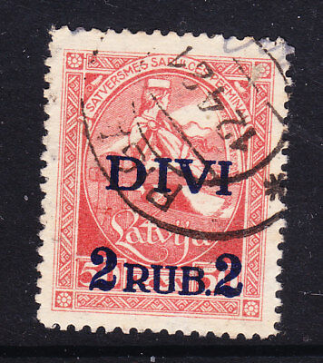Latvia 1921  - 2 on 50kp Overprint #71