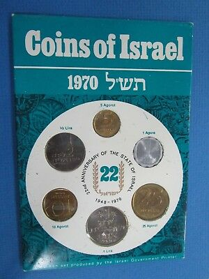 1970 22nd Anniversary of the State of Israel  Set  , Israel  6-Coin Set