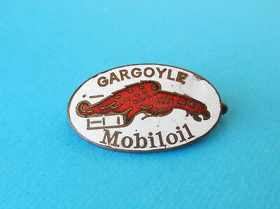 GARGOYLE - MOBILOIL  ... original vintage enameled badge before WW2 * Mobil Oil