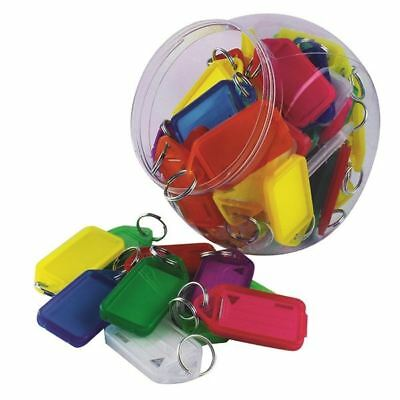 Kevron Plastic Clicktag Key Tag Large Assorted Tub (Pack of 70) [SP00069]