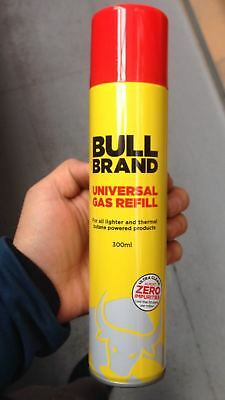 3 X 300ml Bull Brand Butane Gas Refilling Lighters Universal Gas Refill