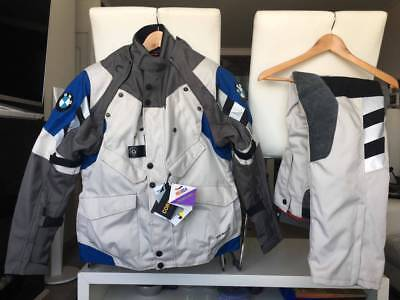 Bmw Rallye 4 Grey/Blue 2016 Motorcycle Touring Off Road Textile Suit, All Sizes