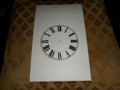 "Steeple Paper Clock Dial - 4 1/4"" M/T -Roman- Cream - Face /Clock Parts / Spares"