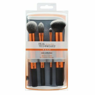 Real Techniques Cosmetic Professional Makeup Brushes Core Collection Set Kit New